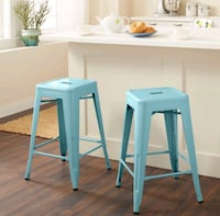 two white wooden bar stools Fairfield, 94533