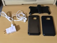 Samsung Galaxy S7 fast charger, cases and earphones