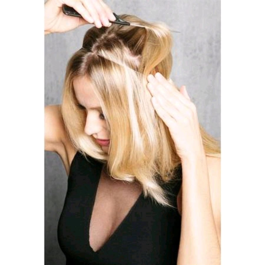 Blonde Human Hair Halo Extensions