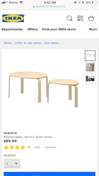 Ikea nesting tables Severn, 21144