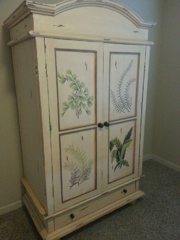 Shabby Chic Armoire used shabby chic armoire, all wood for sale in pinellas county - letgo