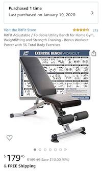 Weight bench-in box unopened!