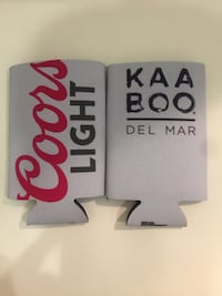 "Two Coors Light/Kaaboo ""tall boy"" beer koozies San Diego, 92101"
