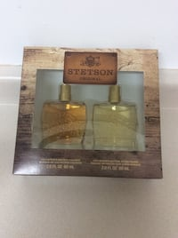 two clear glass perfume bottles with box Burlington, L7R