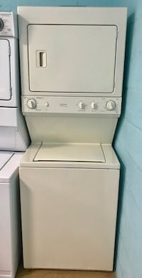 "GE 27"" stackable washer and dryer 10% off"