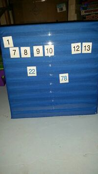 Number pocket table top chart