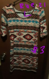 white, blue, and pink floral long sleeve dress Carrollton, 75007