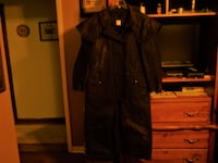 Outback Trading Company Brown Western Stockman Oilskin Duster  BALLSTONSPA