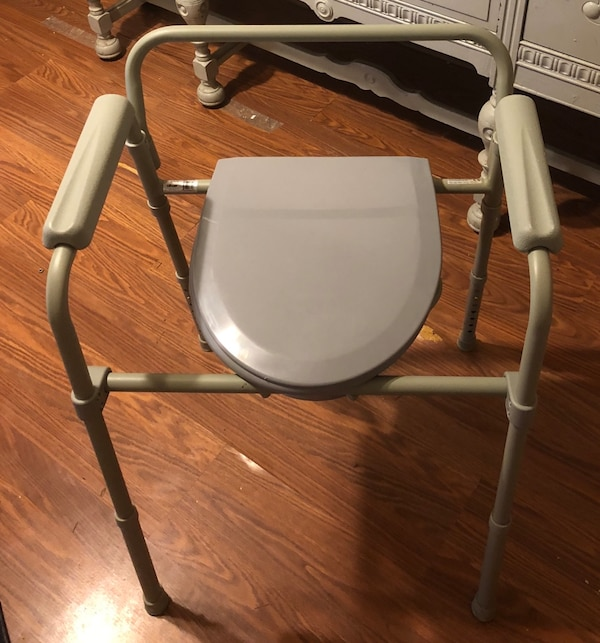 Used gray and white commode chair for sale in Irving - letgo
