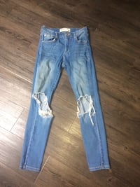 Blue ripped garage jeans Langley