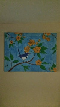 blue, green, and yellow floral painting Toronto, M4E 2Z8