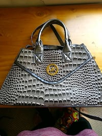 black and gray leather handbag Gaithersburg, 20879