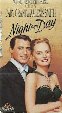 vhs Night and Day Cary Grant Alexis Smith  (ref # bx2) Newmarket