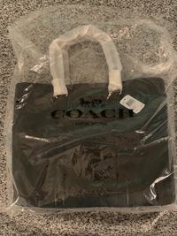 Brand New Coach Black Leather Tote Sterling, 20165