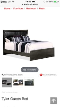 DeFehr queen size bedframe-made in Canada