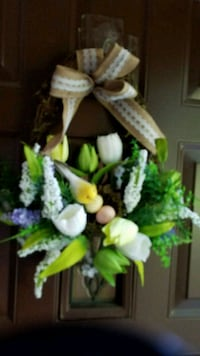 Door decoration, flowers,, bird, gorge