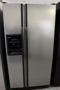 silver and black side by side refrigerator Woodbridge, 22191