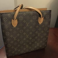 brown and beige Louis Vuitton leather tote bag Maple Ridge, V2X 3A9