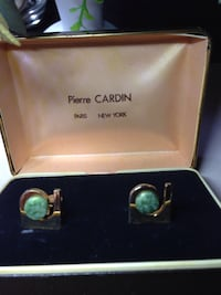 Pierre Cardin cuff links with Jade stone