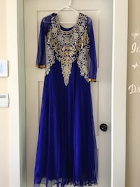 Embroidered Indian long dress outfit party wear Surrey, V3W 7J9