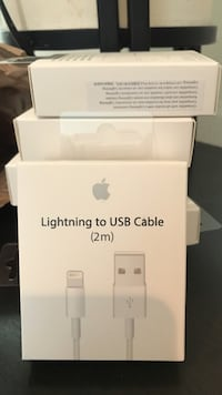 Apple Charger Cable USB New 2M