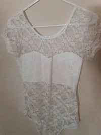 white floral mesh scoop neck cap sleeved swimsuit 2346 mi