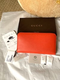 Authentic brand new Gucci Wallet gorgeous bright red