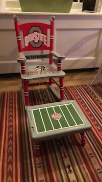 Ohio state buckeyes rocking chair and foot rest Little Falls, 07424