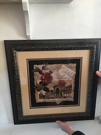 Red rose and museum framed painting