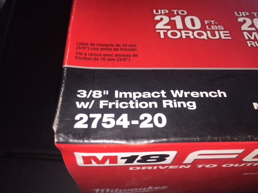 Photo Tool Only M18 Fuel 3/8 Impact Wrench Never Open never used Tool only!