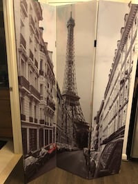 3-Panel Folding Screen Paris and London pictures on it McLean, 22102