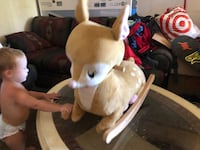 Deer rocking toy with music