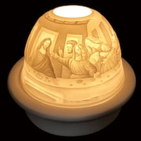 "Jesus and his 12 Disciples At "" The Last Supper "" LED BASE DOME LIGHT With Candle plate Brampton, L7A 3M2"