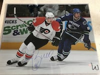 Danny Briere 16x20 signed with COA Toronto, M5C 1S1