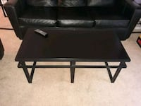rectangular black wooden coffee table Portsmouth, 23704