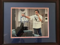 Jerry Seinfeld authentic signed photo with black wooden photo frame Newtown, 18940