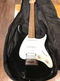 New electric guitar with Marshall amp
