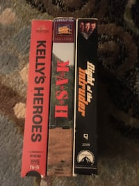Lot of 3 military-themed VHS Kentwood