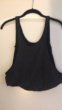 Small grey and black striped crop top  Triangle, 22172
