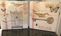 Two bird and butterfly canvas paintings Loveland, 45140
