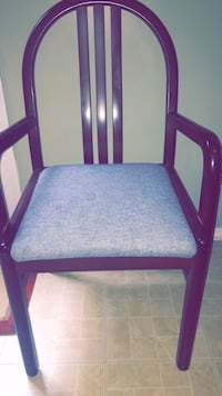 blue and black wooden armchair Pflugerville, 78660