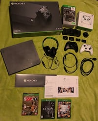 XBOX ONE X, 2 Controllers, Charging Dock, Turtle Beaches, 3 games, Free 1 month Game Pass Birdsboro, 19508