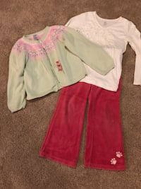 Toddler's white and pink long-sleeved dress Alexandria, 22310