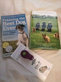 Dog training books & clicker