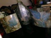 Set of flower vase and 2 pictures Bakersfield