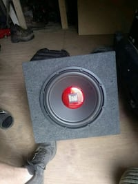 black and red dual subwoofer speaker Knoxville, 37918
