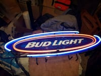 blue and white Bud Light neon signage 45 mi