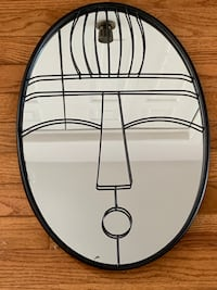 Funky face mirror with wire frame Toronto, M2K 2W3