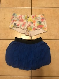 women's two blue and pink shorts Manhattan, 66502