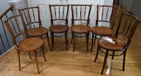 Antique Vintage Thonet Ligna Spindleback Bentwood Chair.6 chairs Toronto